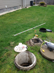 Septic tank aeration inspection